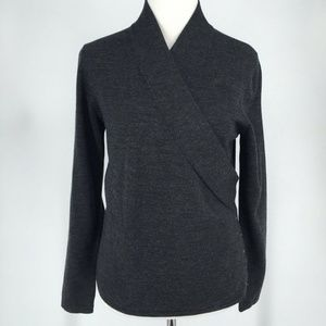 Worth Grey Side Button Long Sleeve Sweater Top
